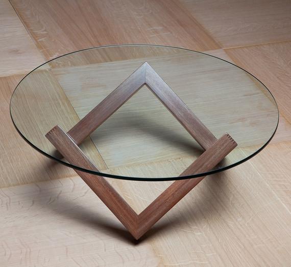 זיגזג שולחן סלון עגול