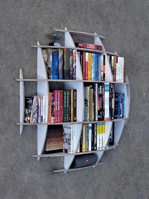 כונניות מדפים | ספריה עגולה תלויה | שח רהיטים