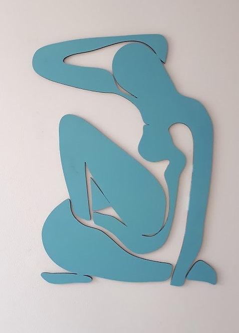 עירום כחול  | תמונות עץ מעוצבות | שח רהיטים