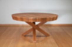 שולחן עגול נפתח לפינת אוכל