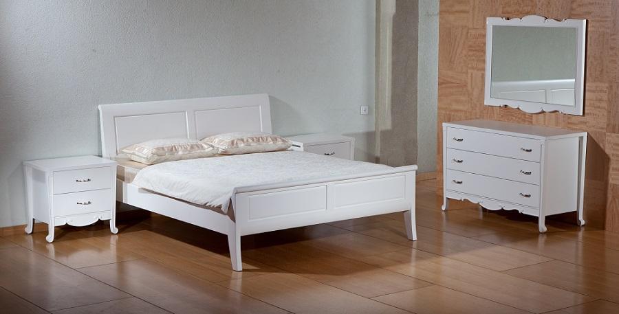 פאר - חדר שינה מעוצב קלאסי לבן