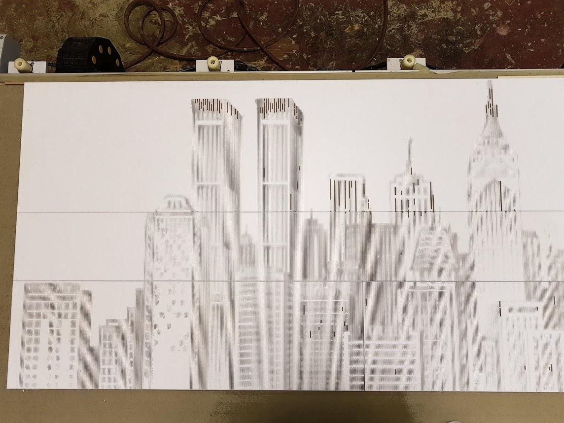 חריטה של ניו יורק על עץ