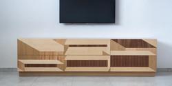 קופסאות פורניר - מזנון לסלון