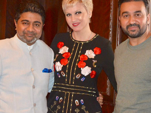 Billionaire Mr. Abhishek Verma and Mrs. Anca Verma held meeting with business tycoon Raj Kundra