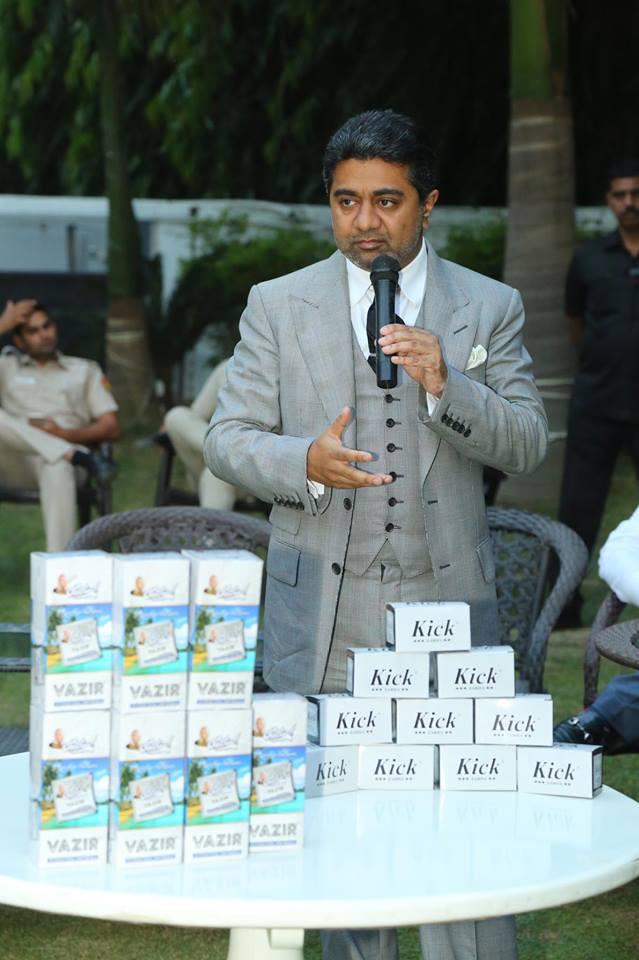 Billionaire Abhishek Verma addressed the meeting