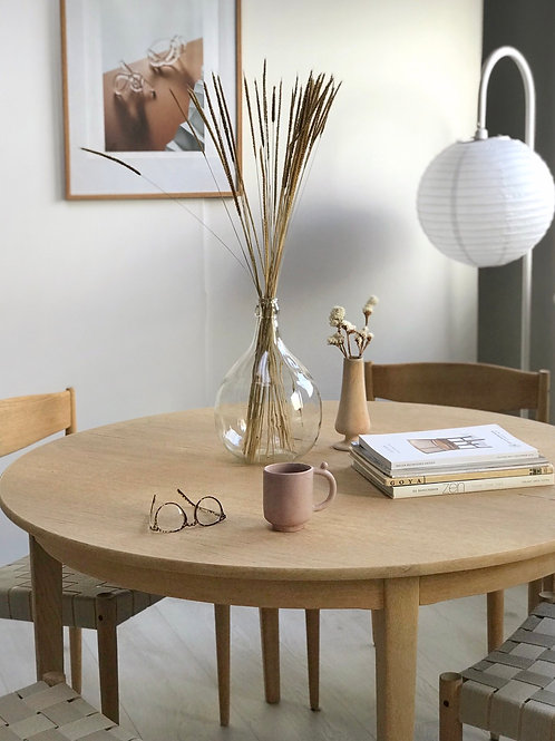Henning kjærnulf spisebord model 39, egetræ