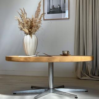 Jørgen Bækmark sofabord m. Arne Jacobsen 6-fods stel
