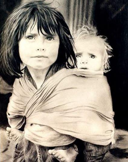 © Ali Pourahmad, Black Pen Painting by hand on canvas painter ali pourahmad 1989