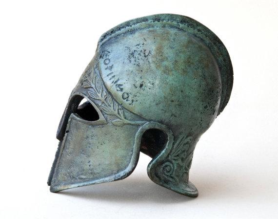 Bronze Metal Helmet