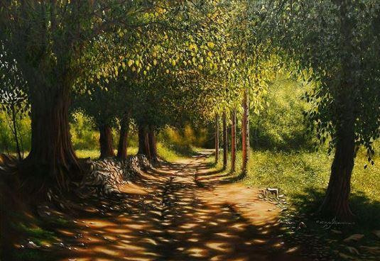 © Ali Pourahmad, Oil painting 2002 on canvas