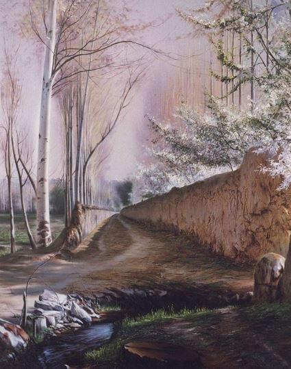 © Ali Pourahmad, 2002 Garden Alley Apple Trees in Iran 2002