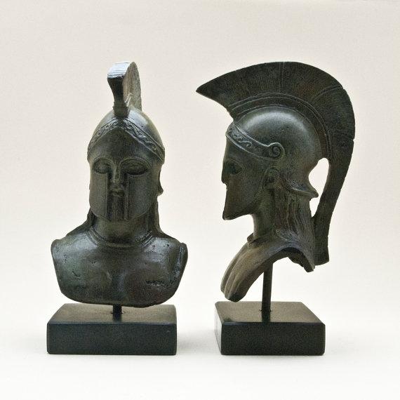 Bronze Leonidas Head