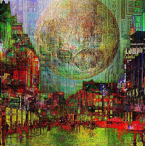 Moon on the City