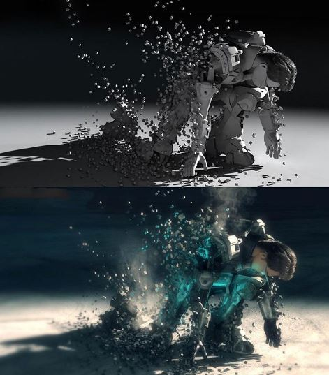 down of sci-fi short movie Infiltration 2013 vfx directed by Ali Pourahmad