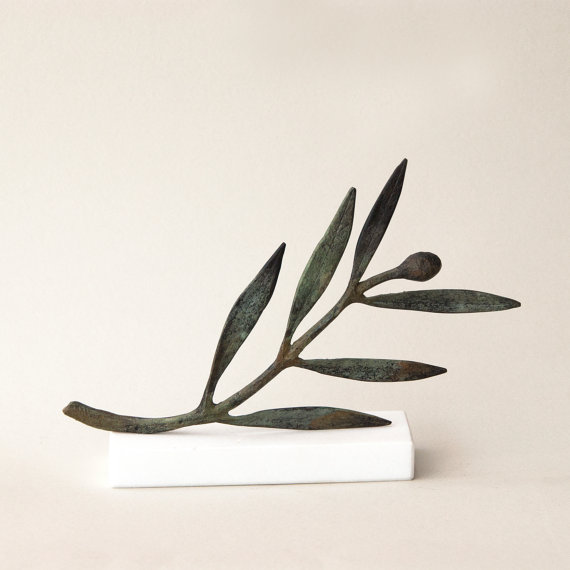 Bronze Olive branch