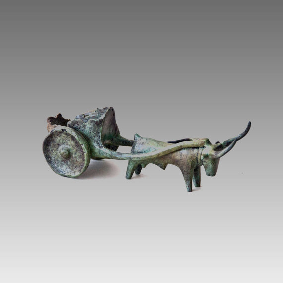 Bronze Ox and Cart