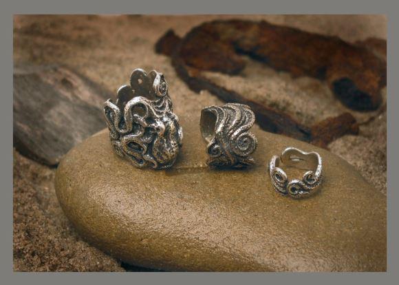 Octopus, Tentacle silver rings