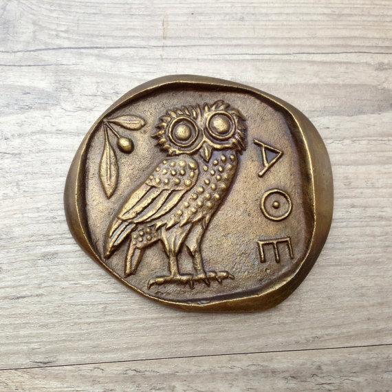 Bronze Owl Paperweight