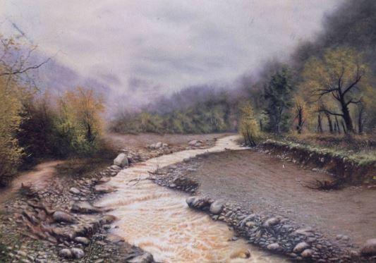 © Ali Pourahmad, 2002 oil painting creek