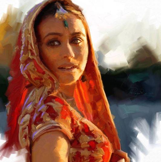 © Ali Pourahmad, 2012 bollywood oil painting