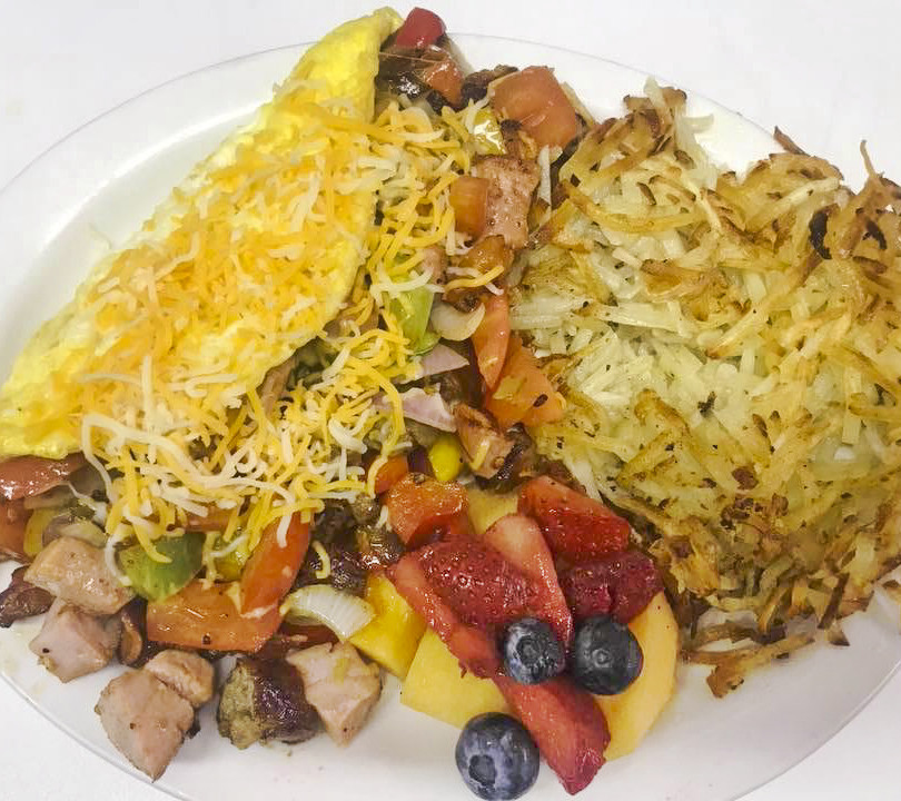 Pierpoint Omelette with Hash Browns & Fr