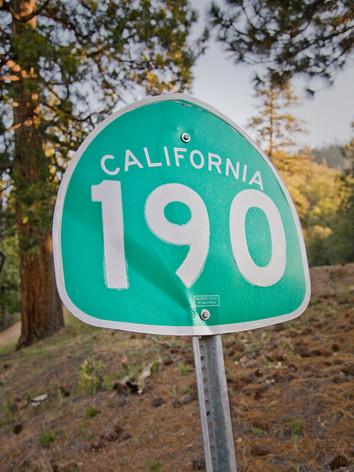 On California Highway 190