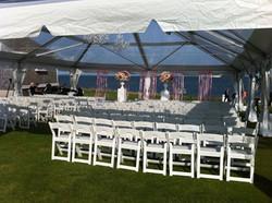 tent wedding set up