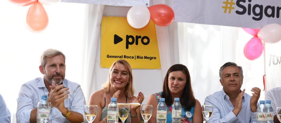 Matzen lanzó la campaña con el respaldo del ministro Frigerio y el gobernador Cornejo