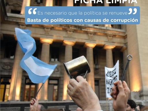 Ficha Limpia - Basta de Candidatos con causas de corrupción