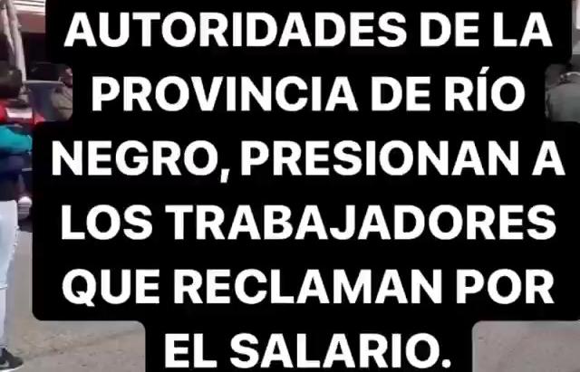 ¡Una vez más acompañamos el reclamo de la Policía de Río Negro!
