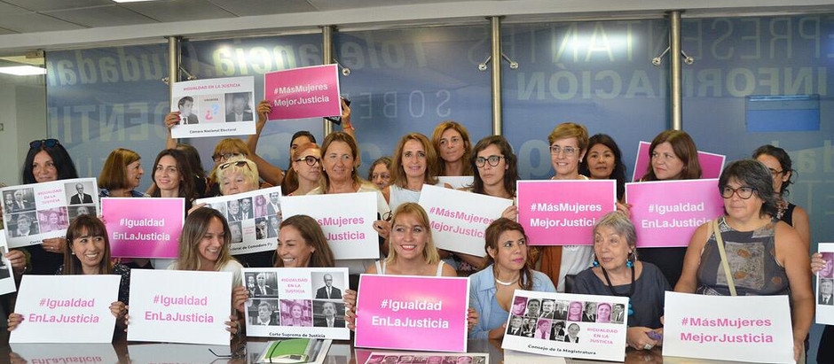Lorena Matzen participó de una reunión por la igualdad de género en el Poder Judicial Argentino.