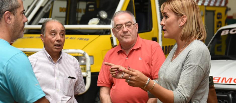 Matzen fijó compromisos con los bomberos voluntarios del Valle Medio
