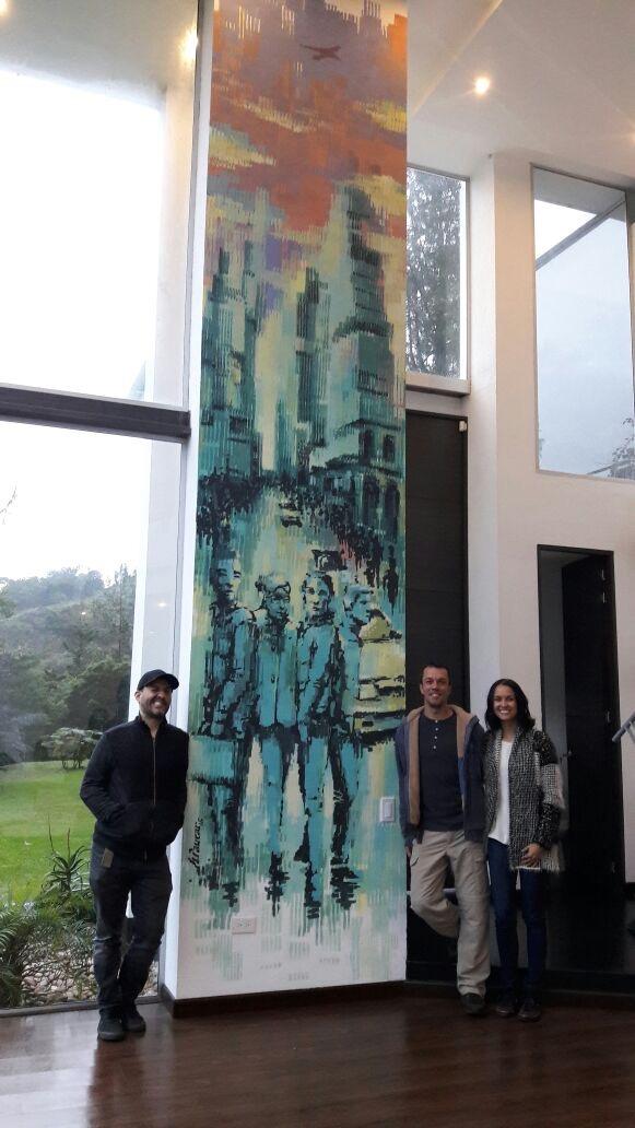 Obra en casa de Juan Pablo Aristizab