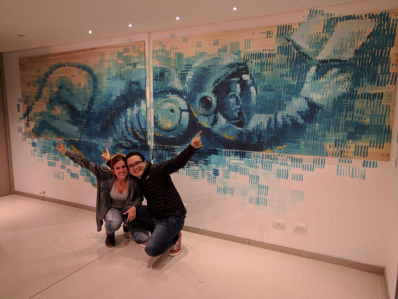 Mural en casa de Sarita Palacio