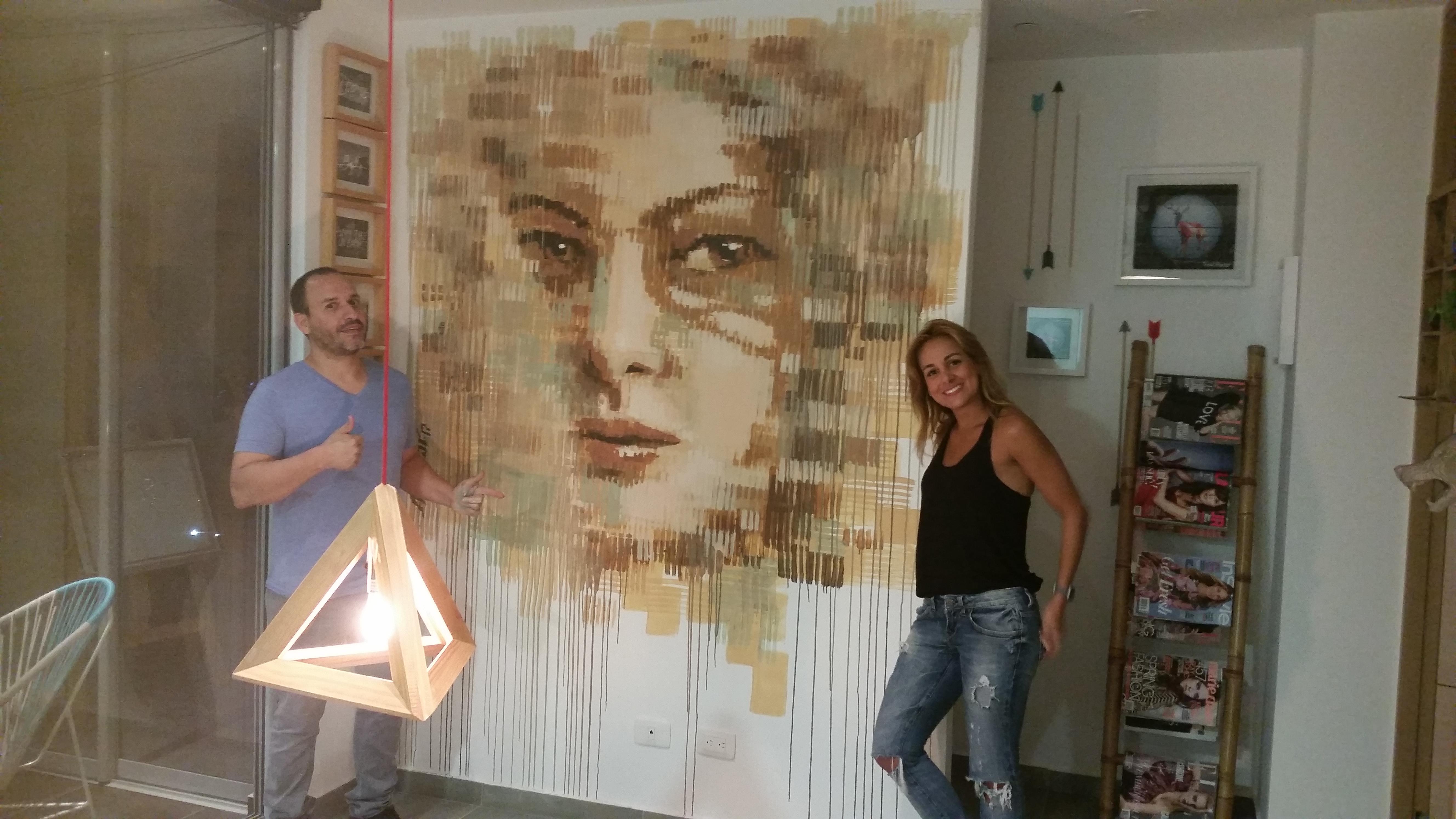 Obra en casa de Silvana Restrepo