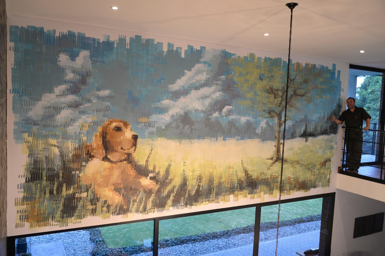 Mural en Casa Natha Nuttin