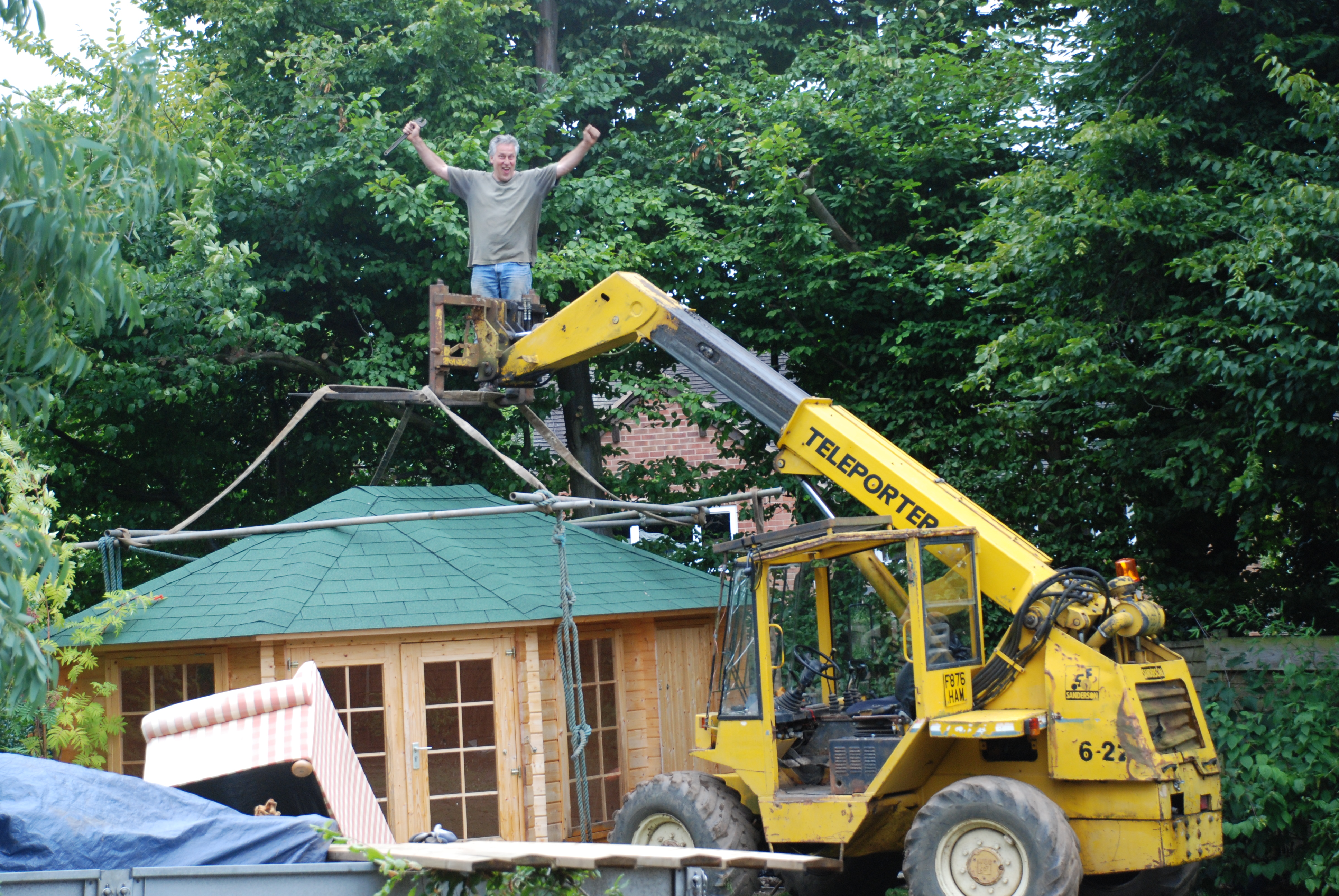 Moving of summerhouse