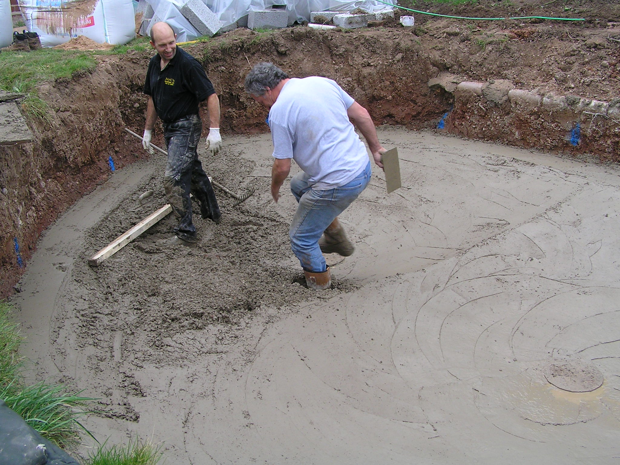 Pond digging and construction
