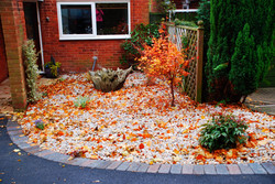 Small pebbled front garden-After