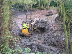 Digging out large pond