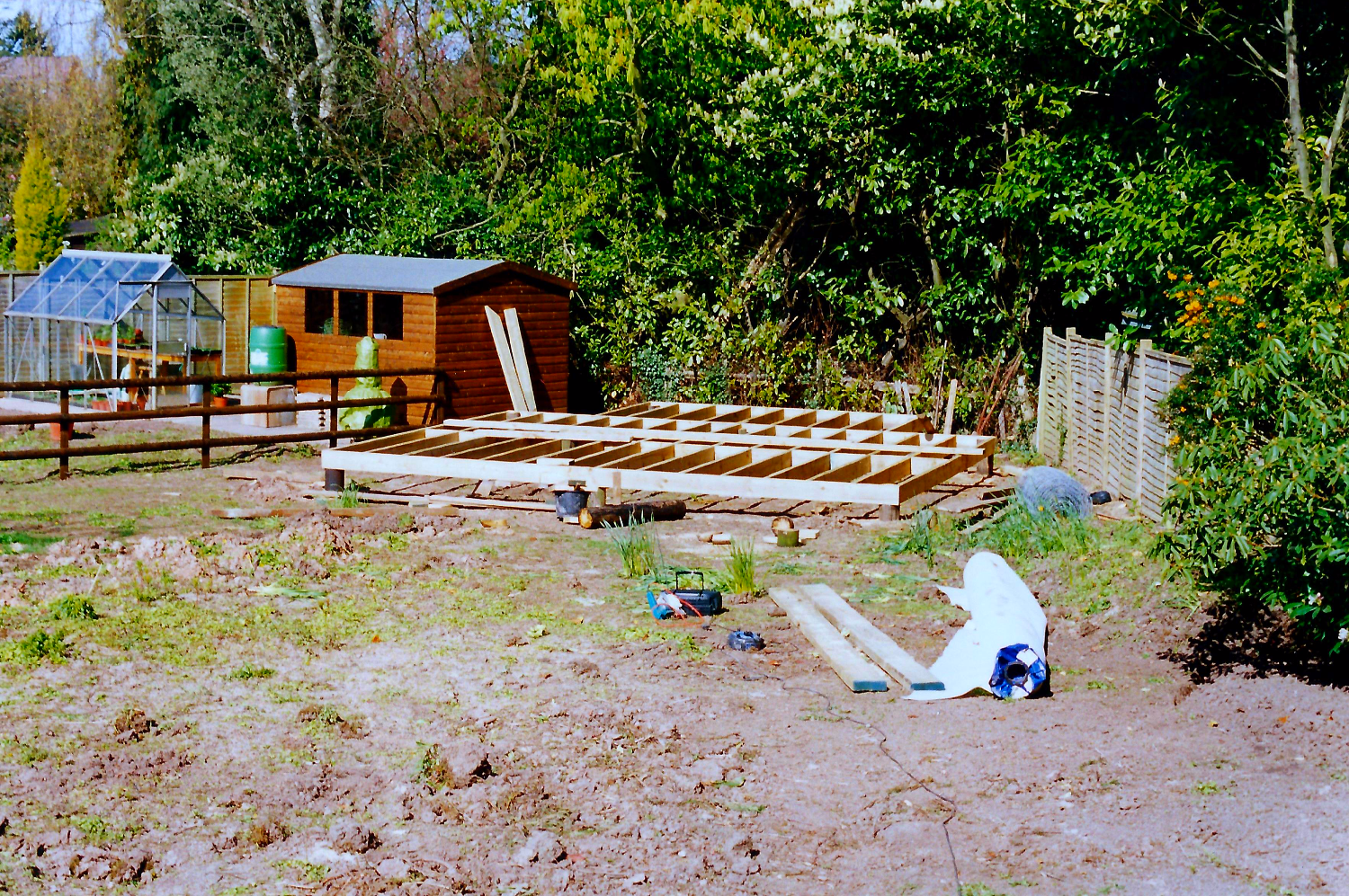Decking and summerhouse construction