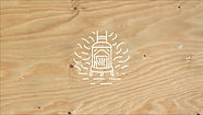 wooden printed logo of Pêle coworking