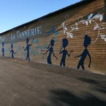La Tannerie, La Bouexière (35)- décor peint, illustration et lettrage - Adelles
