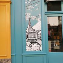Tea & Cie, Rennes, devanture, signalétique, lettres peintes - Adelles.jpg