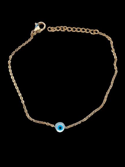bracelet oeil nacre et turquoise