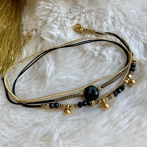 bracelet multirangs onyx