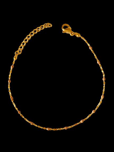 bracelet perles de résine nude / rose