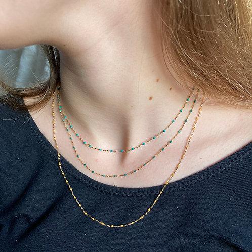 collier Perle de Résine, couleurs froides
