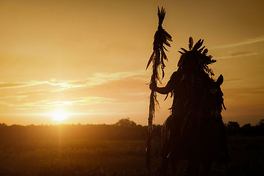 Native American and sunset.jpg