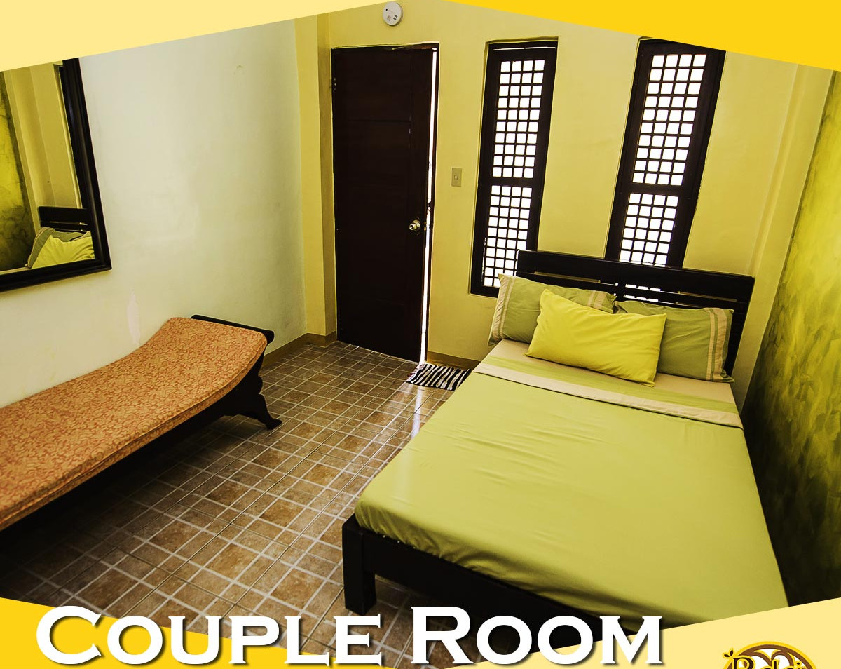 Good for 2 persons with maximum occupants up to 4 persons. It has one double bed and one cleopatra with foam. Own comfort room, television, mini cabinet and air-condition.
